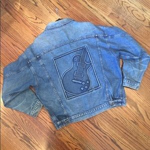 GIBSON GUITAR DENIM JACKET - MEDIUM WASH